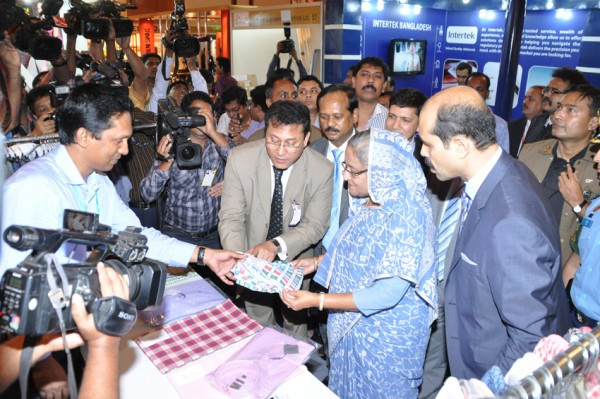 Prime minister Sheikh Hasina visits stall of after inaugurating BATEXPO 2013