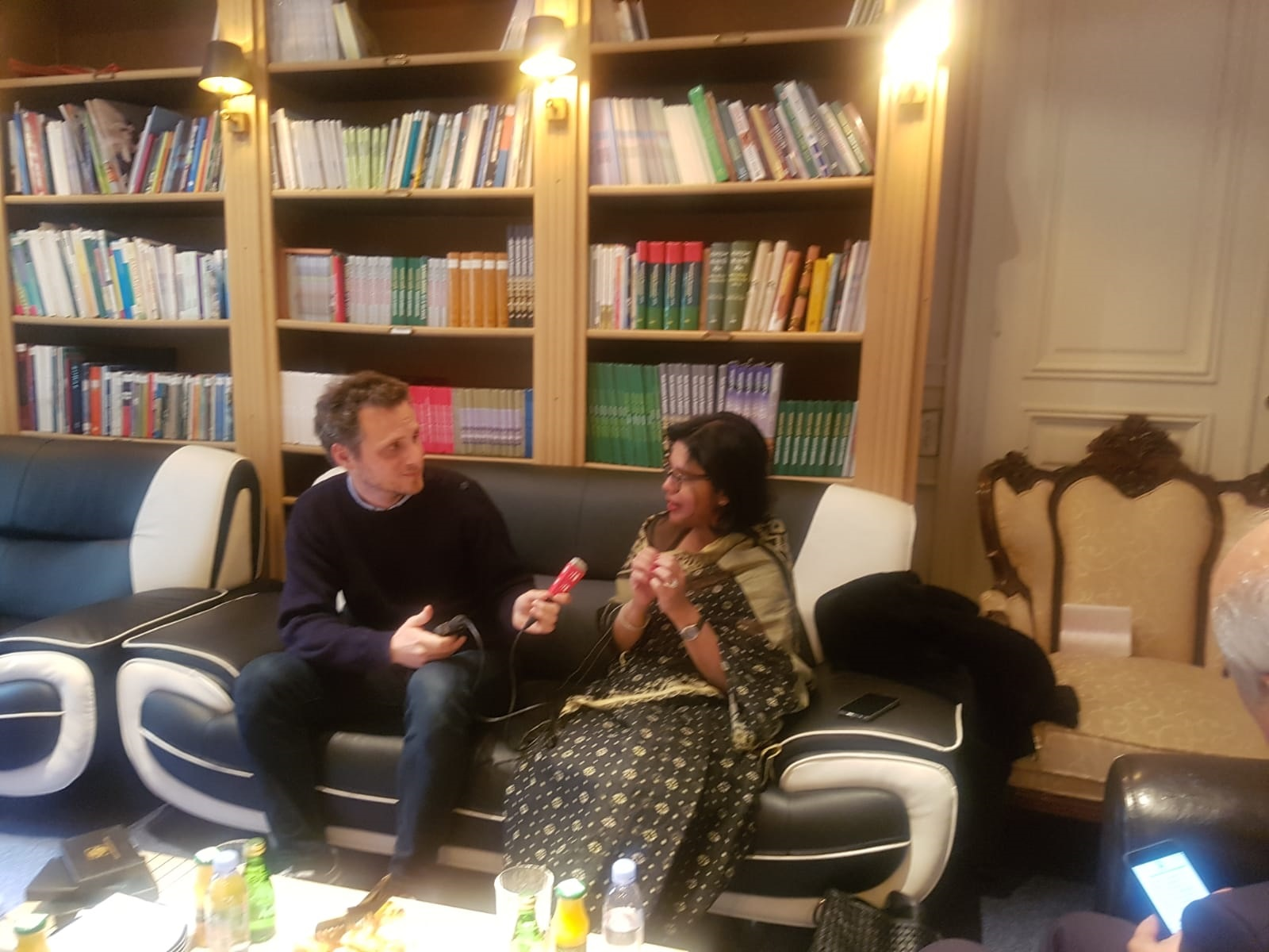 BGMEA President Dr. Rubana Huq in an interview with French media